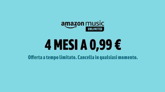 Prime day 2019: Amazon Music 4 mesi a soli 0,99€ – OFFERTE MANIA